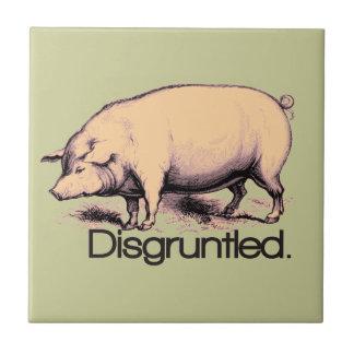 Cerdo contrariedad azulejo cerámica