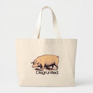 Cerdo contrariedad bolsa tela grande