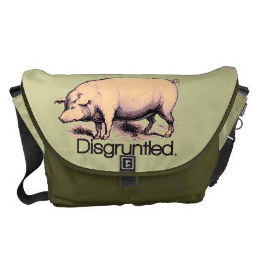 Cerdo contrariedad bolsas messenger
