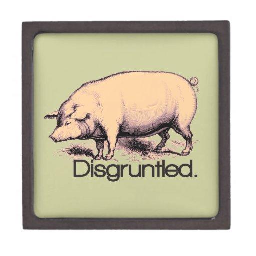 Cerdo contrariedad caja de joyas de calidad