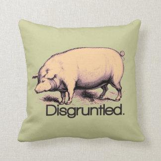 Cerdo contrariedad cojin