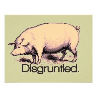Cerdo contrariedad tarjetones