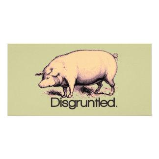 Cerdo contrariedad tarjeta fotografica
