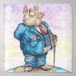 Cerdo corporativo impresiones