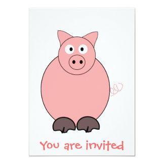 Cerdo cualquier ocasión invitaciones personalizada