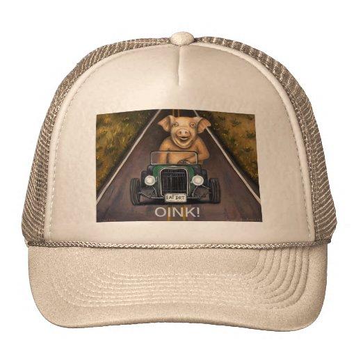 Cerdo de camino gorras de camionero