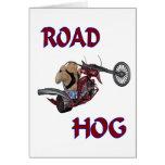 Cerdo de camino tarjetón