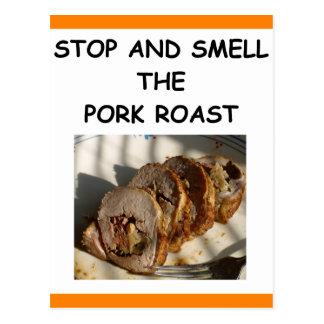 cerdo de carne asada postal