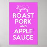 Cerdo de carne asada y compota de manzanas poster