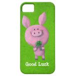 Cerdo de la buena suerte iPhone 5 Case-Mate cárcasa