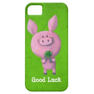 Cerdo de la buena suerte iPhone 5 carcasas