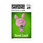 Cerdo de la buena suerte sello