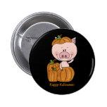 Cerdo de la calabaza (personalizable) pins