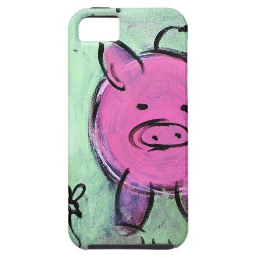 cerdo de la mamá iPhone 5 cobertura
