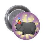 Cerdo de la miniatura del cumpleaños pin