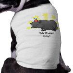Cerdo de la miniatura del cumpleaños ropa para mascota