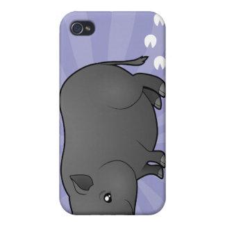 Cerdo de la miniatura del dibujo animado iPhone 4 fundas
