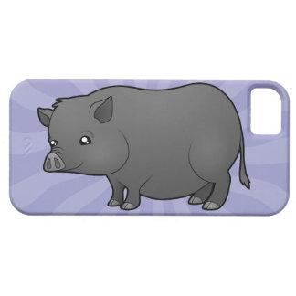 Cerdo de la miniatura del dibujo animado iPhone 5 carcasa