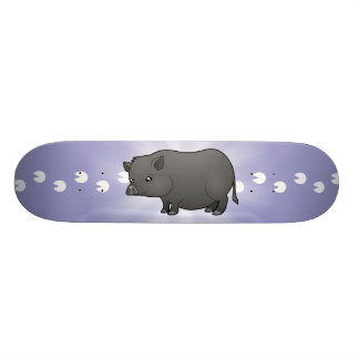 Cerdo de la miniatura del dibujo animado patinetas personalizadas