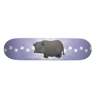 """Cerdo de la miniatura del dibujo animado patineta 7 7/8"""""""