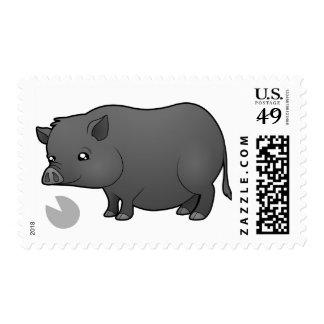 Cerdo de la miniatura del dibujo animado sellos