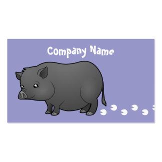 Cerdo de la miniatura del dibujo animado tarjetas de visita