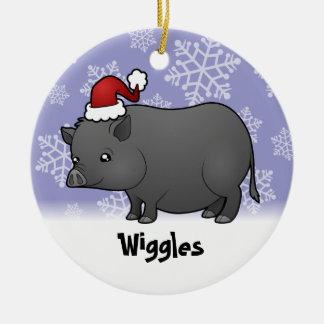 Cerdo de la miniatura del navidad ornamentos de reyes