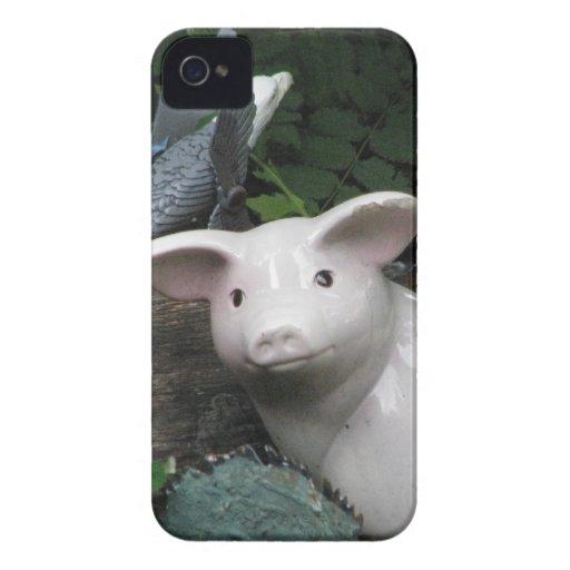 Cerdo de la porcelana Case-Mate iPhone 4 cobertura