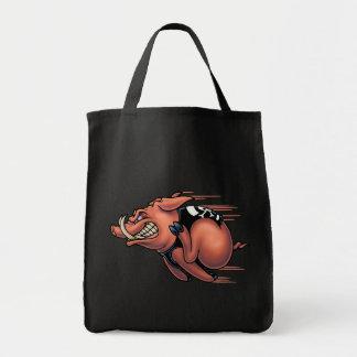 Cerdo de la velocidad bolsa lienzo