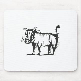 Cerdo de la verruga alfombrillas de ratones
