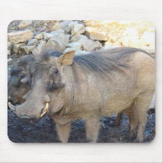Cerdo de la verruga tapetes de ratón