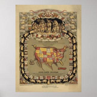 Cerdo de los cerdos de los cerdos y los Estados Un Poster