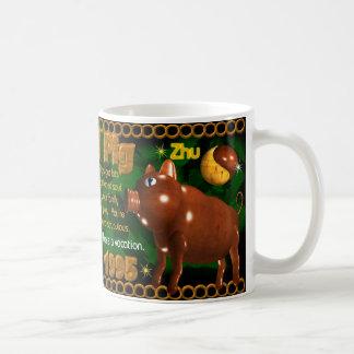 Cerdo de madera 1935, zodiaco de 1995 chinos taza de café