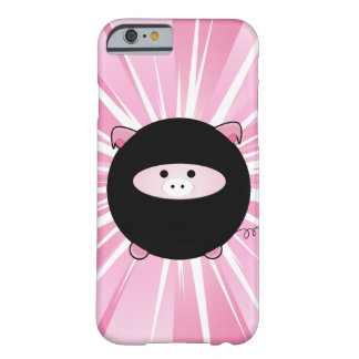 Cerdo de Ninja en rosa Funda Barely There iPhone 6