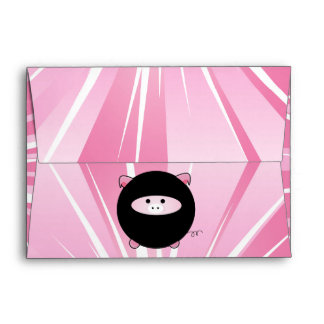 Cerdo de Ninja en rosa Sobres