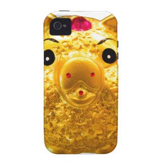 Cerdo de oro vibe iPhone 4 carcasa