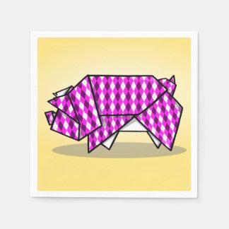 Cerdo de papel modelado rosa lindo servilleta desechable