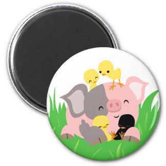 Cerdo de Pascua e imán de los polluelos
