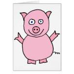Cerdo de Piggylicious el guarro Tarjeta