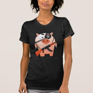 Cerdo de protección camisetas