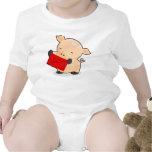 Cerdo de Renkoo con el sobre rojo Camiseta