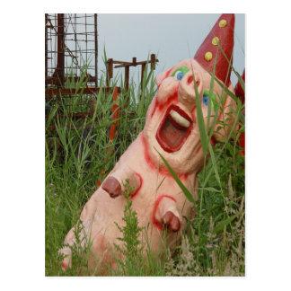 Cerdo de risa postal
