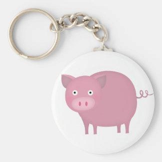 Cerdo de Rosey Llaveros Personalizados