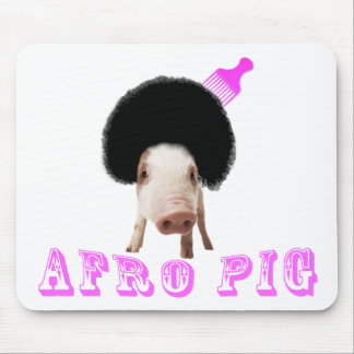 Cerdo del Afro Alfombrillas De Ratones