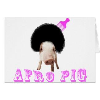 Cerdo del Afro Tarjeta De Felicitación
