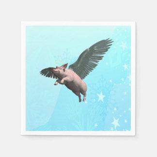 Cerdo del ángel servilleta desechable