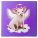 Cerdo del ángel tejas  cerámicas