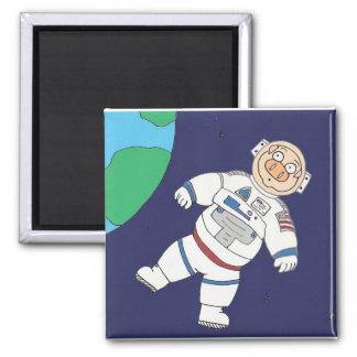 Cerdo del astronauta imán para frigorífico