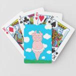 Cerdo del bailarín baraja cartas de poker