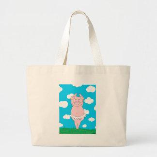 Cerdo del bailarín bolsa lienzo